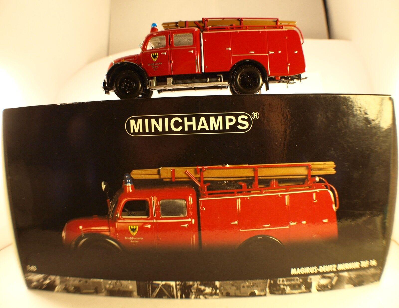 Minichamps 141071 magirus deutz fire truck tlf16 Aachen nine box 1 43