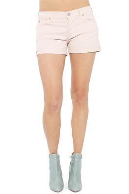 7 For All Mankind Josefina Roll Up Short in Blush Cuffed Hem New Pink AU5109981