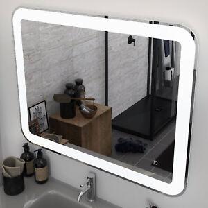 Dettagli su Specchiera LED 70x90 cm reversibile per arredo bagno moderno  luce bianca fredda