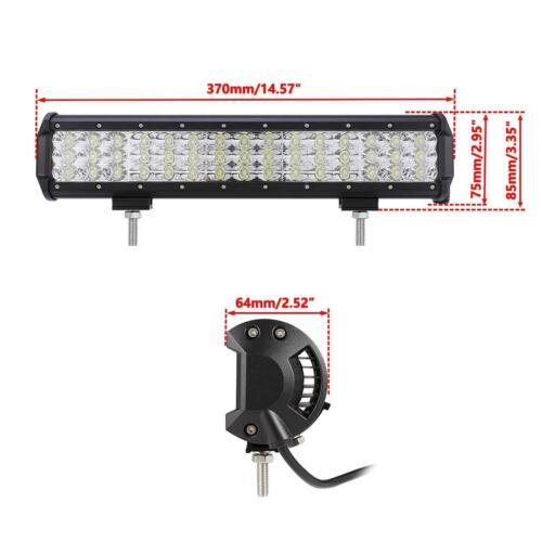 TRIPLE ROW 15INCH 450W CREE LED LIGHT BAR SPOT FLOOD COMBO OFFROAD DRIVING TRUCK