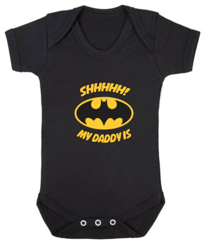 Shhhhh My Daddy Is Batman Babygrow