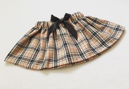 Handmade Baby Girls Skirts Clothes New UK Caramel Tartan Outfit Lot Tartan