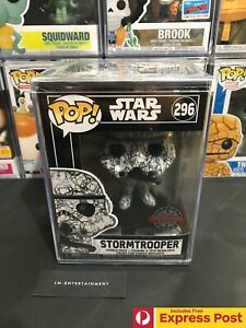 STAR-WARS-STORMTROOPER-FUTURA-FUNKO-POP-VINYL-BOBBLE-HEAD-FIGURE-296-HARD-CASE