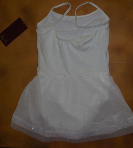 NWT Mirella Camisole Sparkle Hem Dance Dress White Girls size Ballet Class M209C