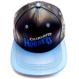 Charlotte Hornets Logo Team Nfl Baseball Leather Cap Ebay