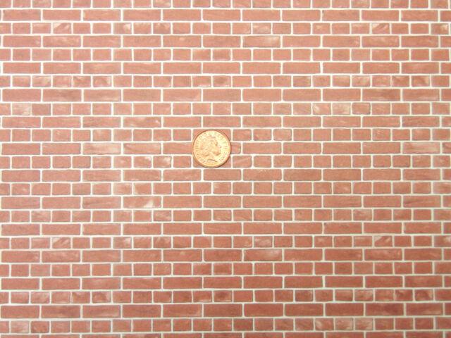 Dolls House Miniature Bedford Brick Wallpaper DIY A3 297cm X 43cm WP547