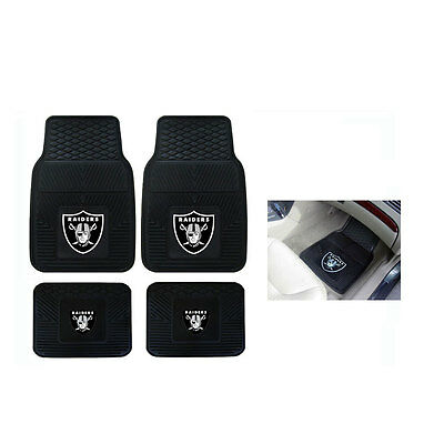 New Fanmats NFL Oakland Raiders Car Truck All Weather Floor Mats Front & Back