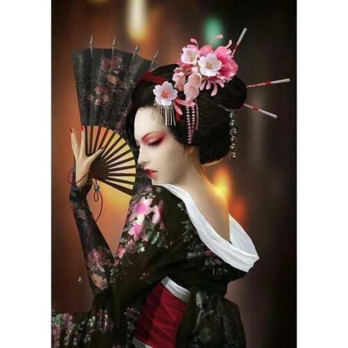 5D Geisha Diamond Painting DIY Kreuzstich Stickerei Malerei Bilder Stickpackung
