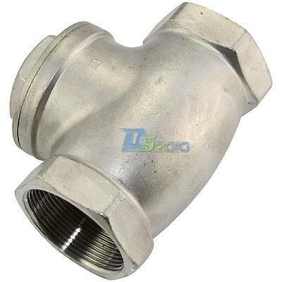 "1/2""-2"" Swing Check Valve WOG 200 PSI PN16 Stainless Steel SS316 CF8M BSP"