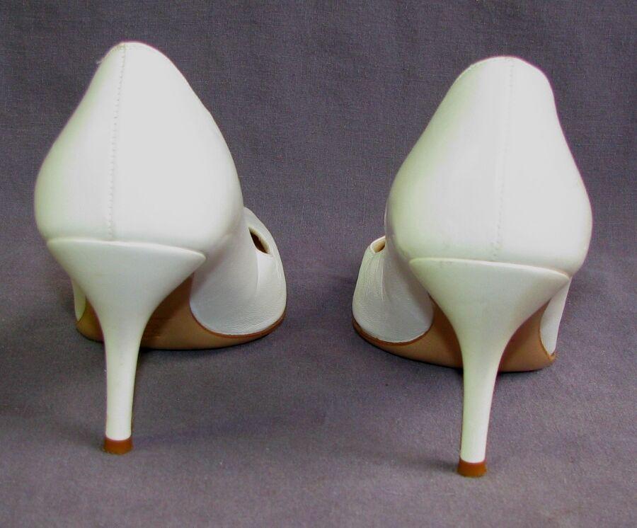 CAREL Escarpins élégants talons 8 cm tout cuir cuir cuir crème 35 itl 36 fr EXCELLENT ETAT dcdf6a