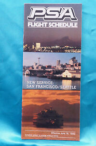 PSA-Airline-Timetable-June-16-1982