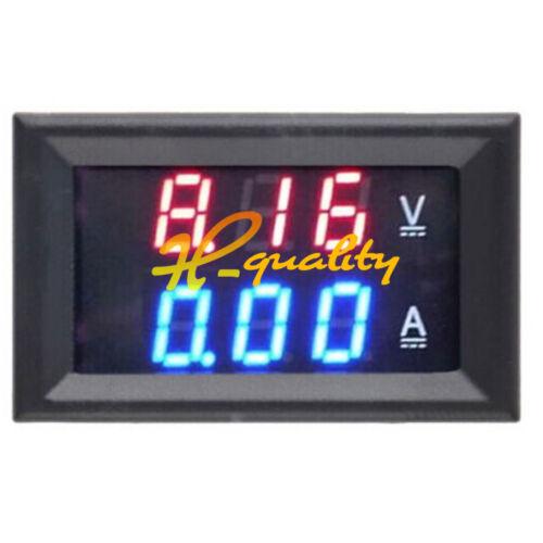 Digital Voltmeter DC 0-100V 5A 10A 20A 50A 100A Dual LED Ammeter L1SH