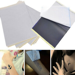 Tattoo transfer carbon paper supply tracing copy body art for Tattoo transfer paper