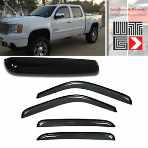 Vent Shade Outside Mount Window Visor Sunroof T2 5pc Chevy Suburban 1500 07-14