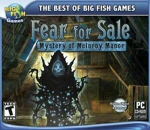 FEAR-FOR-SALE-MYSTERY-OF-MCINROY-MANOR-Win-XP-Vista-7-8-NEW-Hidden-Object-Adv