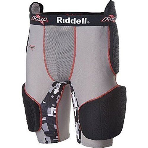 $50 Riddell Youth Power Recon Five-Piece Padded Football Girdle, Size (Medium)