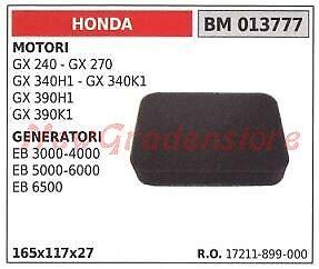 Filtro aria HONDA motore GX 240 270 340H1 generatore EB 3000 4000 013777