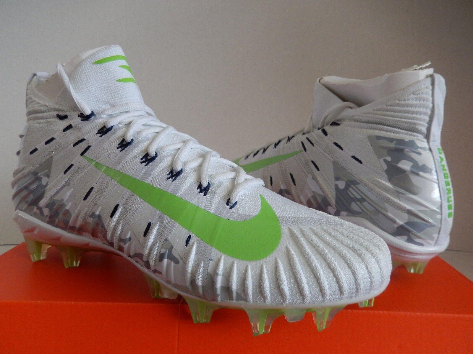 c9b0aabd53c Nike Alpha Menace Elite Russell Wilson Cleat Size 12.5 W  Autograph ...