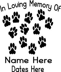 In-Loving-Memory-Vinyl-Decal-Sticker-Personalized-Custom-Car-Window-Paws-Dog