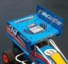 TOP WING KIT 7 X 7 INCH FOR 1/10 SCALE DIRT OVAL R/C SPRINT CARS