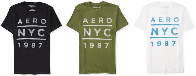 Aeropostale Mens Aero oversized NY Logo Graphic T Shirt Tee S,M,L,XL,2XL,3XL NEW