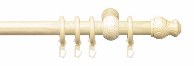 Gardinenstange Vorhangstange Stilgarnitur Komplettgarnitur 28 mm Ø kiefer