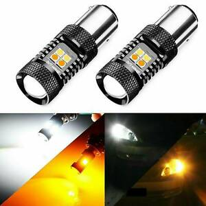 JDM-ASTAR-1x-1157-Dual-Color-Switchback-16-SMD-Amber-Turn-LED-Light-Signal-A0G8