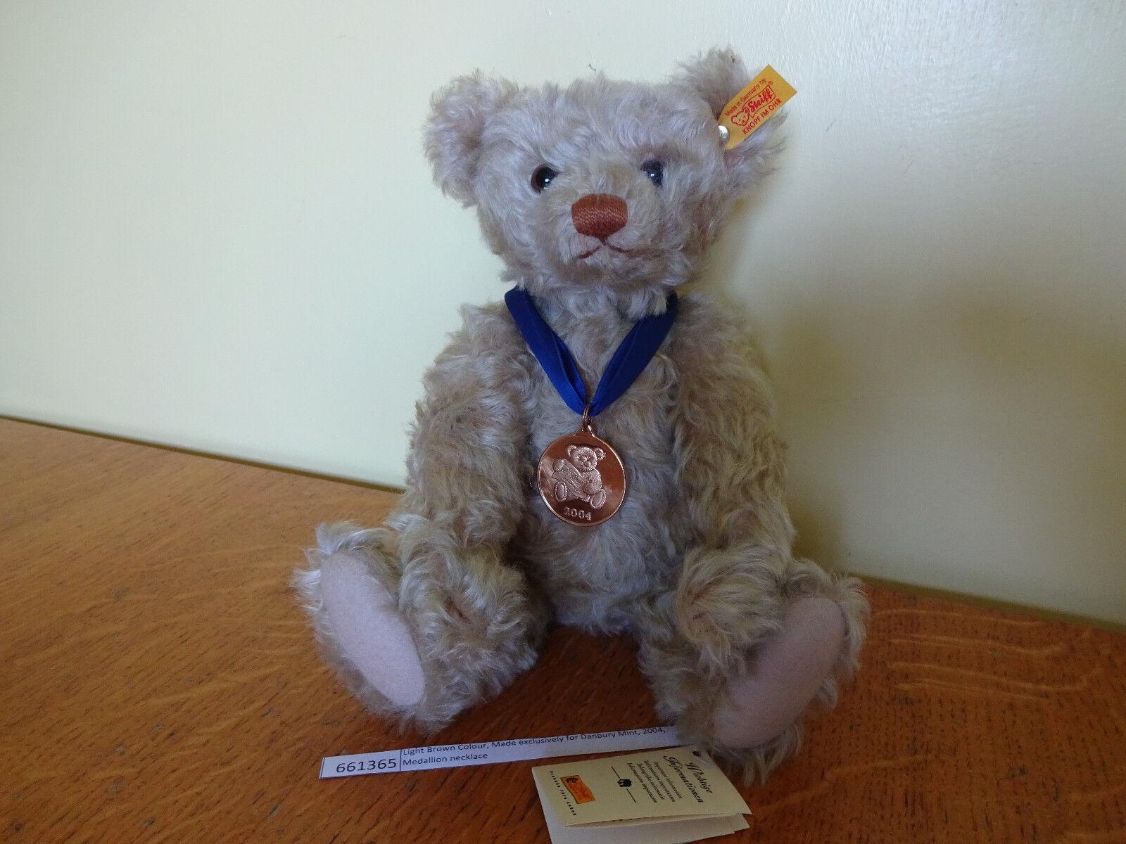Steiff Steiff Steiff Teddy Bear 661365 Light braun Colour Made for Danbury Mint 2004 Grade A f8a347