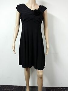 NEW-FAST-to-AUS-London-Times-Sleeveless-Knee-Length-Dress-Size-10P-Black-89