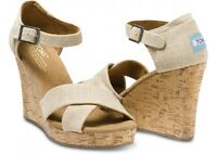 Toms Womens Strappy Wedge - Sierra - Size 10 - With Box