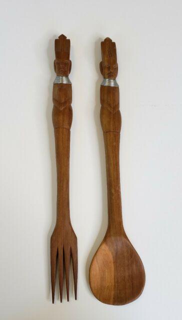 Vintage African Wooden Spoon