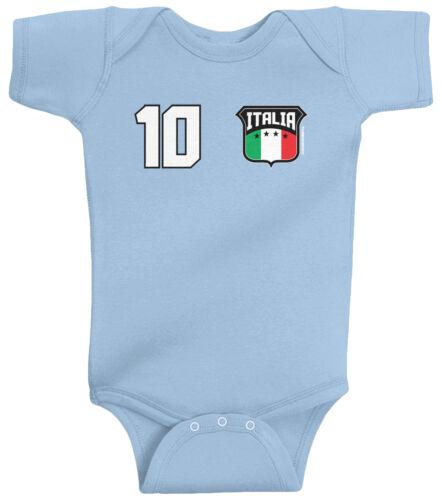 Threadrock Baby Team Italia Soccer Infant Bodysuit Italy Italian Football