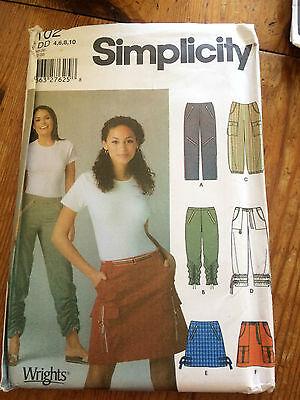 Simplicidad Mini Falda + Pantalones De Papel Patrón De Costura. Nuevo Y Sin Cortar 5102 Talla 4-10 Alta Resiliencia