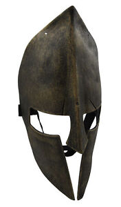 Medieval Iron Knight Spartan Helmet Face Mask Roman Warrior Greek Costume