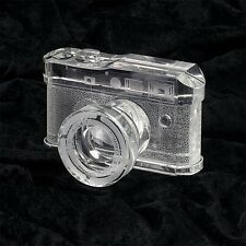 Leica M9 Photo Camera Replica Carved Crystal Weight Bookend Shelf Display Decor