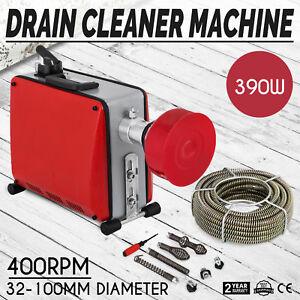 32-100mm-Rohrreinigungsmaschine-390W-Rohrreiniger-Lokal-Elektrisch-Drain