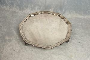 Large-And-Heavy-Sheffield-1954-Silver-Salver