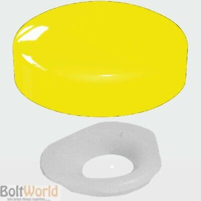 GOLD PLASTIDOME SCREW COVER CAPS WITH WASHER CHOOSE QTY