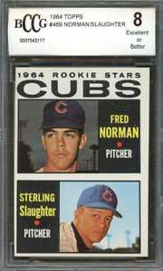 Fred-Norman-Sterling-Slaughter-Rookie-Card-1964-Topps-469-Cubs-BGS-BCCG-8