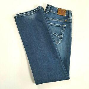 LUCKY-BRAND-Womens-EASY-RIDER-Mid-Rise-Straight-Leg-Jeans-Medium-Wash-Size-4-REG