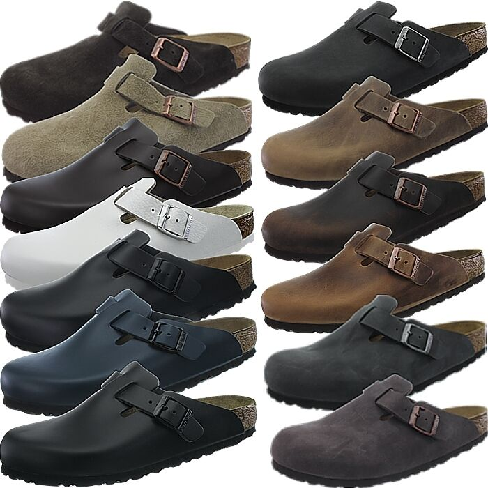 Birkenstock Pantoletten Boston Pantoffeln Pantoletten Birkenstock viele Farben/Materialien Leder Nubuk 44a3db