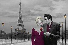 ELVIS PRESLEY & MARILYN MONROE - PARIS ART POSTER 24x36 CONSANI EIFFEL 3153