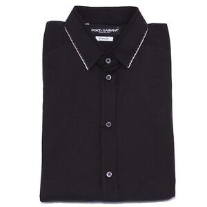 Dolce Black Uomo Shirt Man Gabbana 5185y amp; Camicia Gold Cotton silk q76EqFAw