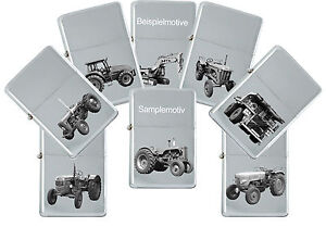 Sturm Lighter With Genuine Engraving: Tractors And Construction Machinery Petrol