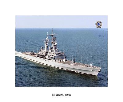 USS Krishna ARL 38 Personalized Canvas Ship Photo Print Navy Veteran Gift