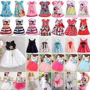 7d05b508b Kid Baby Flower Girls Summer Formal Mini Short Dress Princess ...