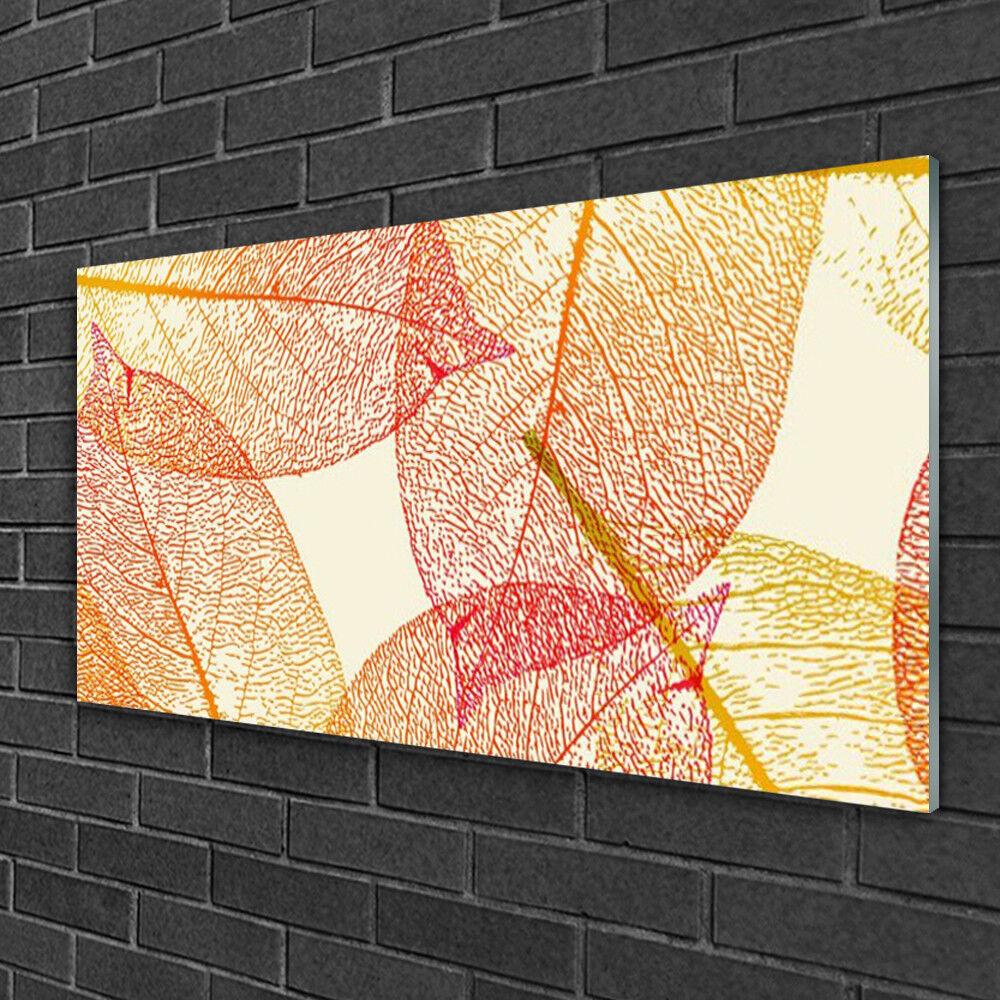 Image sur verre Tableau Impression 100x50 Art Feuilles