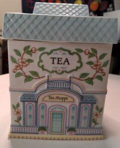 Vintage The Lenox Village Canisters Tea Shoppe 1990 fine porcelain