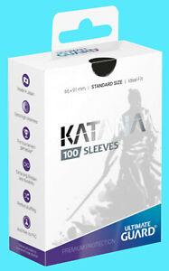 100-ULTIMATE-GUARD-KATANA-BLACK-STANDARD-SIZE-Card-SLEEVES-Deck-Protector-japan