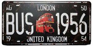 London-Bus-1956-United-Kingdom-Retro-Vintage-Auto-License-Plate-Tin-Sign